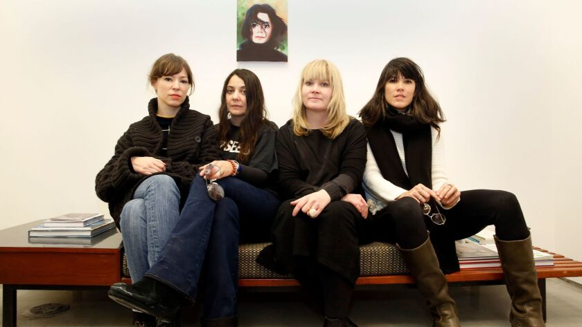 Members of the Halt Action Group in New York last week. From left, Alissa Bennett, Lizzi Bougatsos, Alison Gingeras and Jamieson Webster.