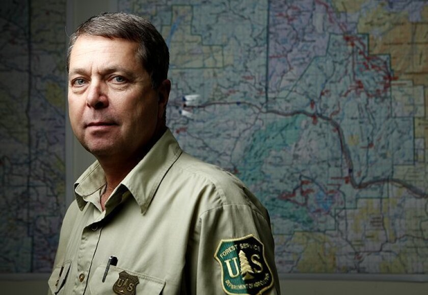 Will Metz, Cleveland National Forest superintendent, approved the Sunrise Powerlink that will cut through his jurisdiction.