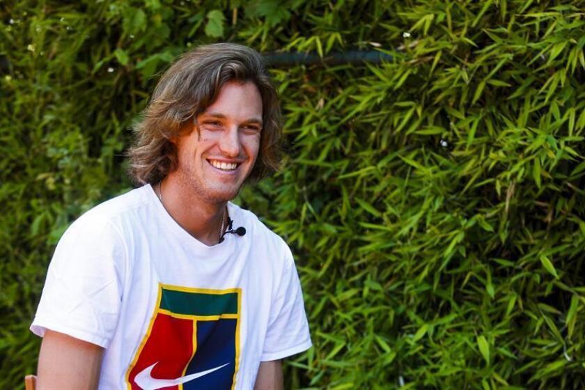 El tenista chileno Nicolás Jarry. EFE/Archivo
