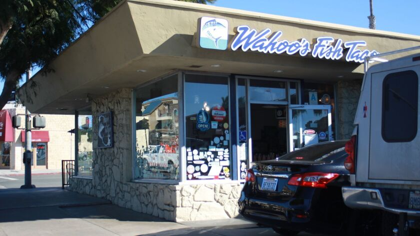 La Jolla's Wahoo's Fish Taco location at 637 Pearl St. will close due to corporate downsizing after almost 19 years in The Village. Its last day of business will be Sunday, Dec. 16, 2018.