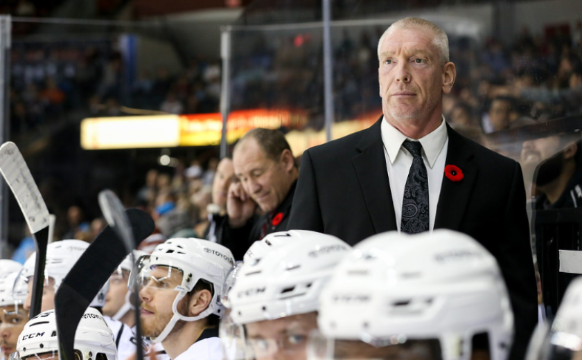 Ontario Reign head coach Mike Stothers during the 2019-20 season.
