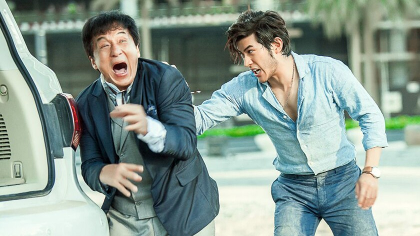 """Jackie Chan, left, and Aarif Rahman appear in a scene from the film """"Kung Fu Yoga."""""""