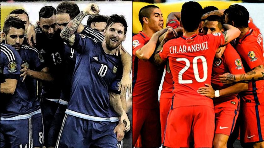 Argentinos y chilenos se alistan para la gran final de la Copa América 2016...