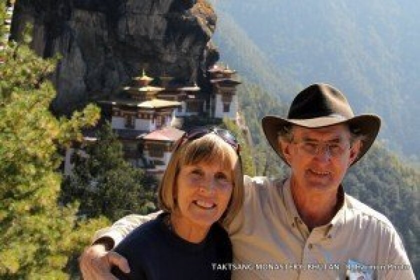 Nancy and Roger Harmon will give a presentation at the library on their travels in Bhutan.