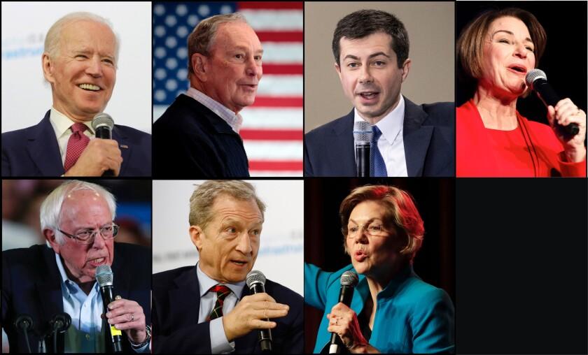 Image result for images of Sanders, Bloomberg ,Biden ,Warren ,Buttigieg, Klobuchar
