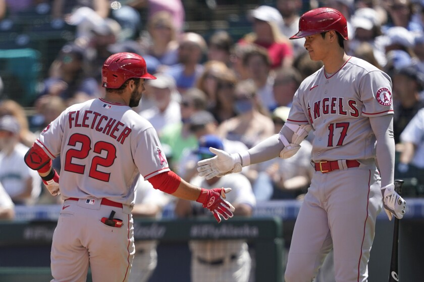 David Fletcher and Shohei Ohtani, teammates on the field, are fierce competitors in video games.