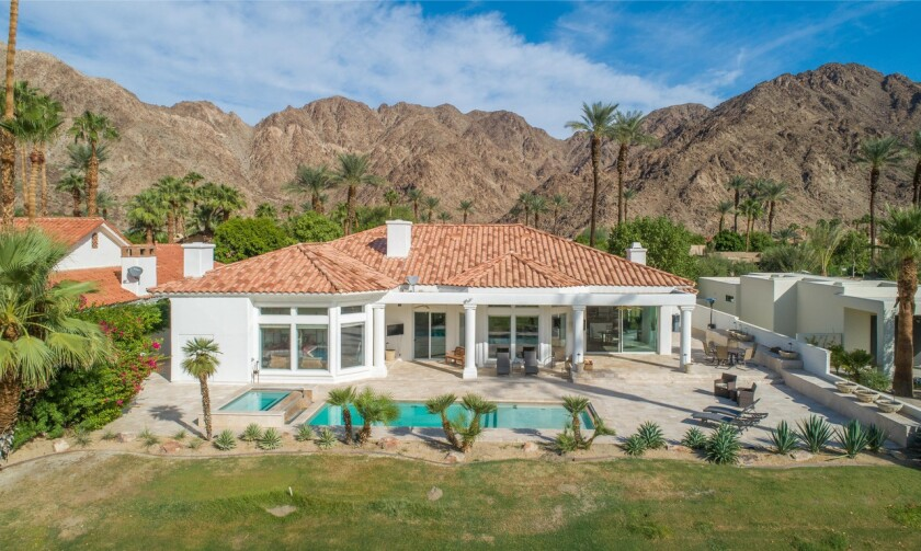 The single-story home sits on the 12th fairway of the Mountain Course at the La Quinta Resort and Club.