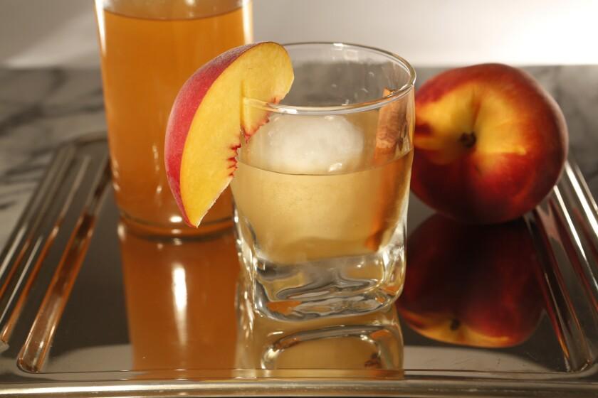 Spiced peach bourbon Old Fashioned