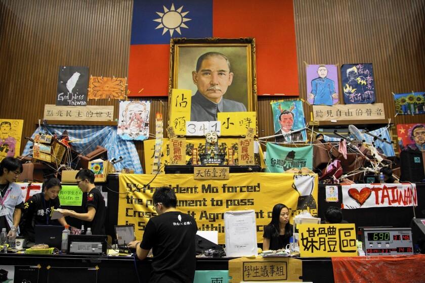 Students occupy Taiwan's legislative chamber