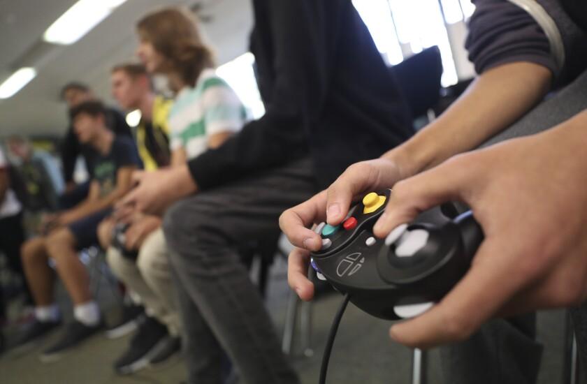 Club de eSports de Helix Charter High School en La Mesa, California.