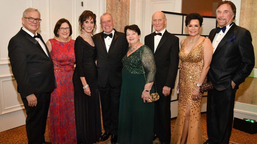 Steve and Sue Hart, Nancy Laturno, Ron McMillan, Alexandra Pearson, Paul Meschler, Arlene and Richard Esgate