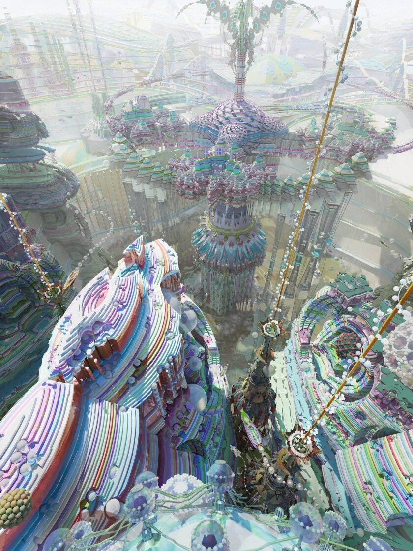 'The Platform' by artist local Kirsten Zirngibl captures a futuristic 'world.'