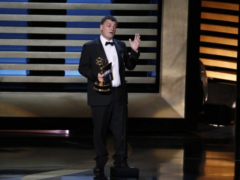 Steven Moffat wins Emmy, talks more 'Sherlock'