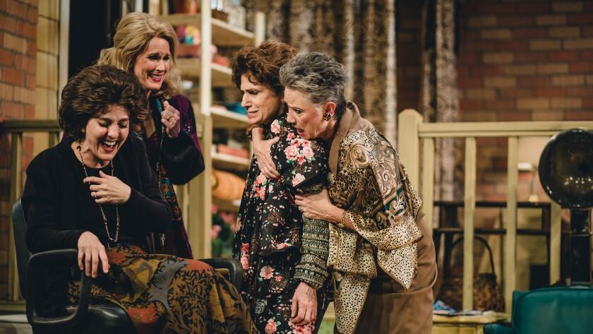"""The cast of """"Steel Magnolias,"""" from left: Treva Tegtmeier, Nan McNamara, Deborah Marlowe, Lori Berg. The Actors Co-op production runs to May 5."""