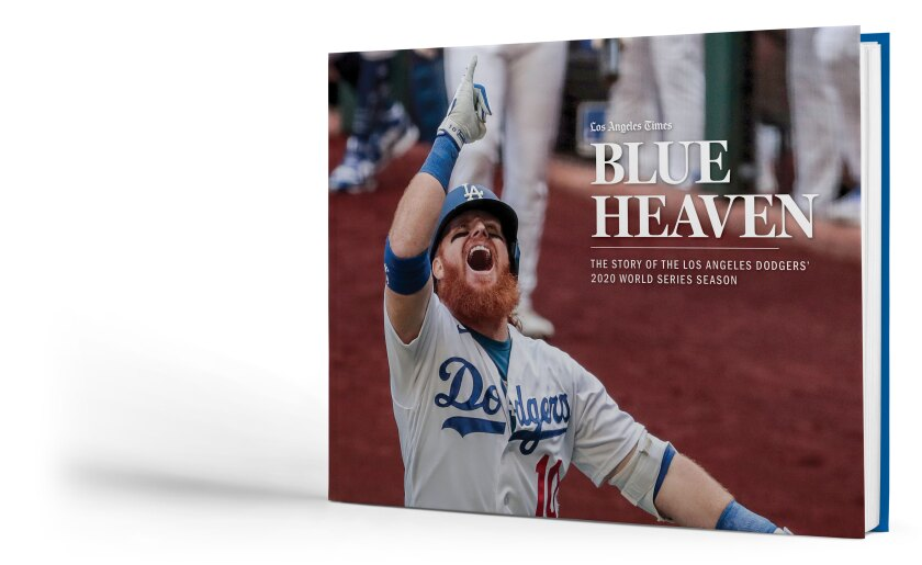 """Blue Heaven,"" a commemorative book celebrating the Dodgers' championship 2020 season."