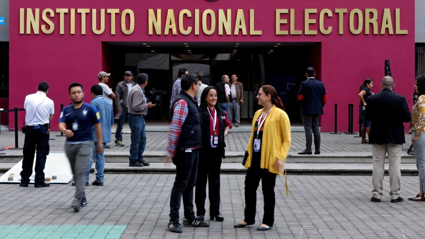 The National Electoral Institute, the organization responsible for organizing federal elections, in Mexico City on June 30, 2018.