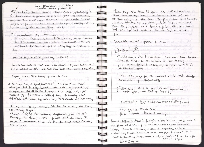 """A notebook Ian McEwan used writing """"On Chesil Beach"""" is among his items that will be archived at the Ransom Center."""