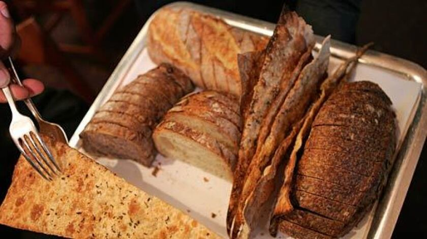 Bread shall be offered and replenished throughout the meal.