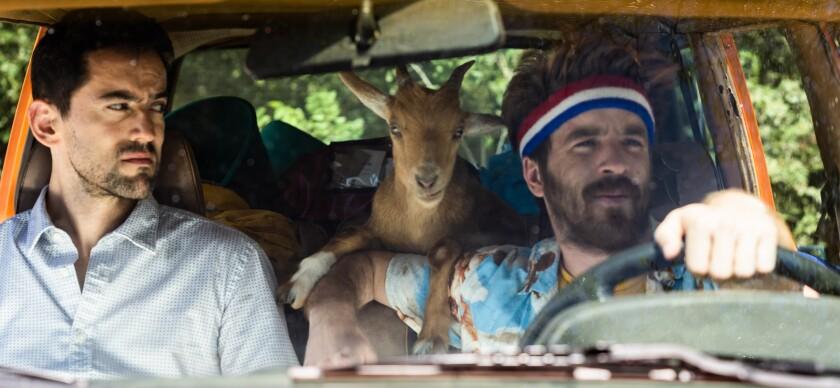 """Luis Gerardo Méndez, left,  and Connor Del Rio in the film """"Half Brothers."""""""
