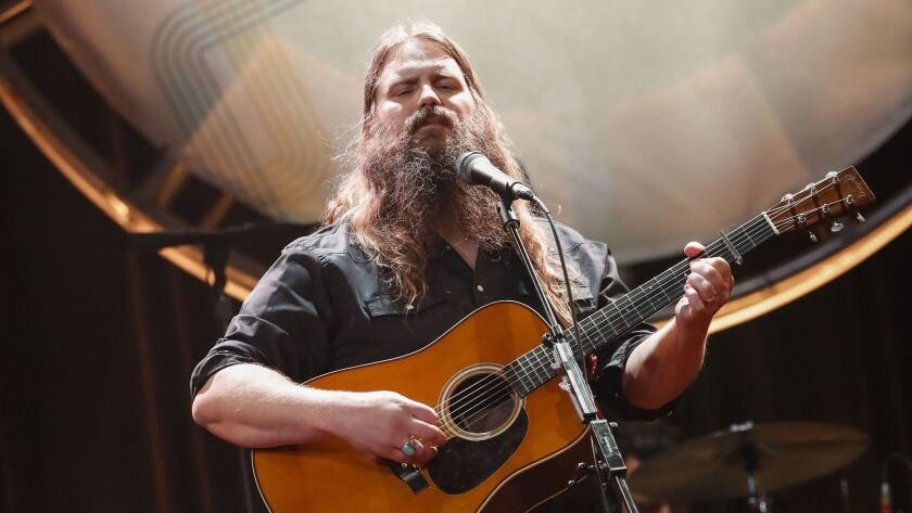 Chris Stapleton performs at the 12th Annual ACM Honors in 2018 at the Ryman Auditorium in Nashville, Tenn.