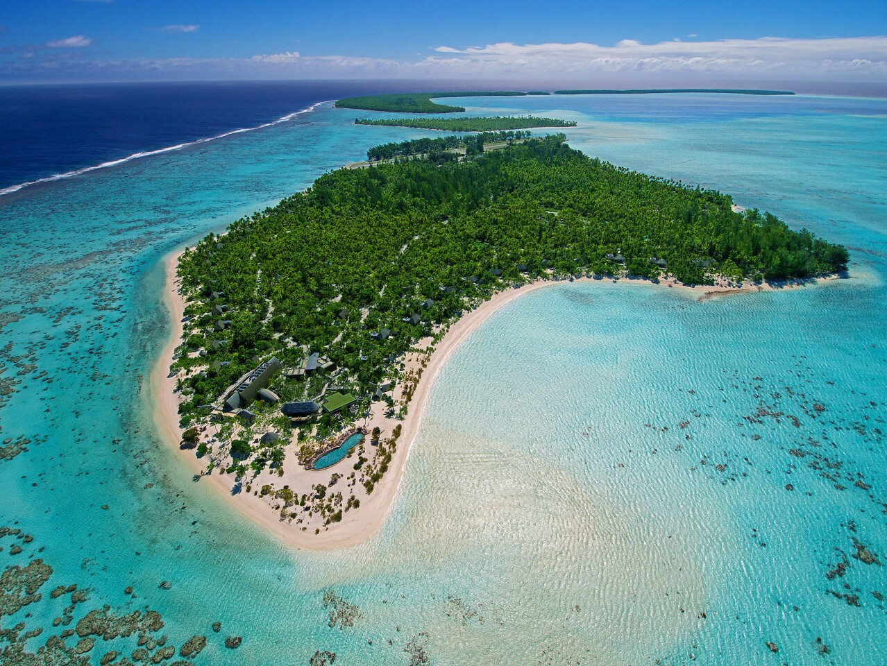 Tetiaroa, the atoll in French Polynesia that Marlon Brando purchased in the 1960s, is now home to the Brando, an eco-resort.
