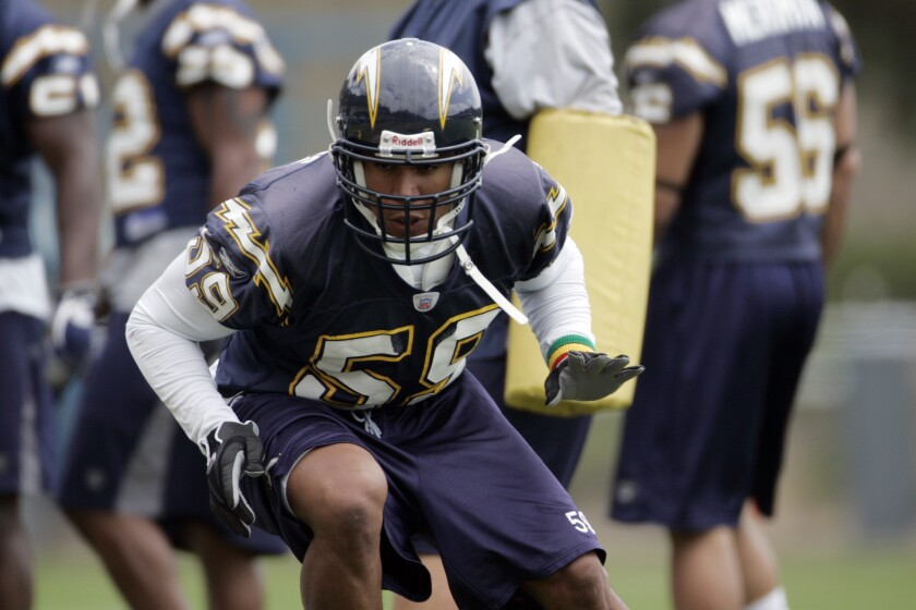 Former Chargers linebacker Donnie Edwards.