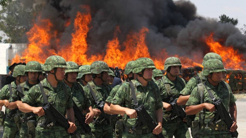 MEXICO-SEIZED-DRUGS-INCINERATION