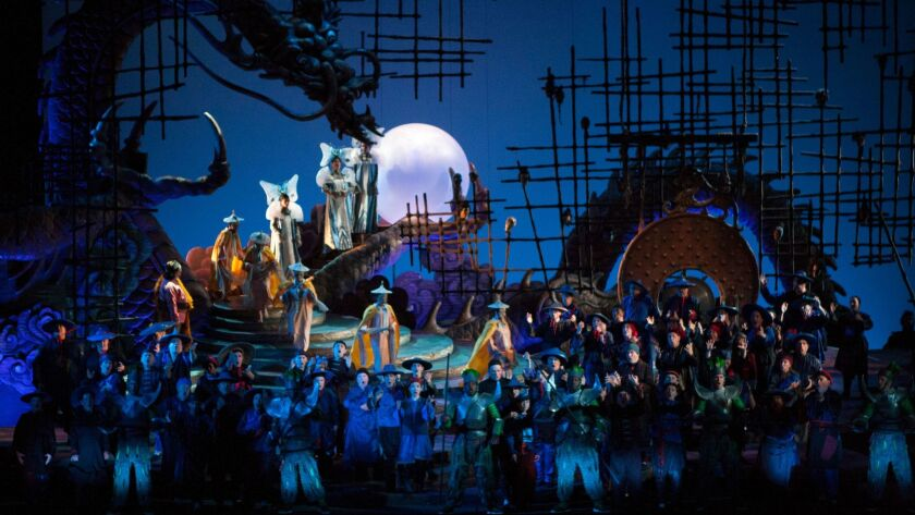"A scene from San Diego Opera's ""Turandot,"" now playing at the San Diego Civic Theatre."