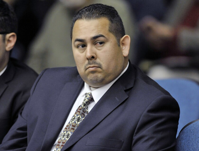 Manuel Ramos, a former Fullerton police officer, in court in 2012.