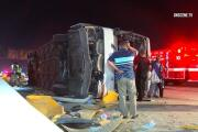 Tour bus driving from Pala Casino crashes in L.A., injuring 25