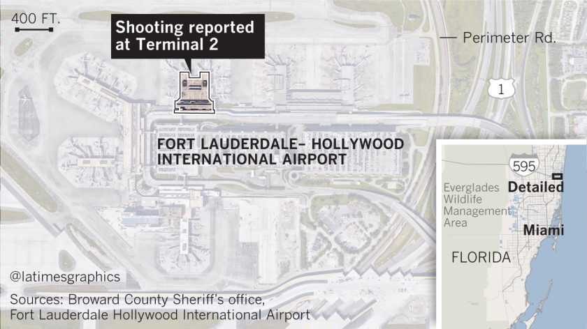 Shooting location at Fort Lauderdale-Hollywood International Airport