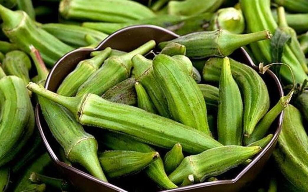 Okra at the Hollywood Farmers Market.