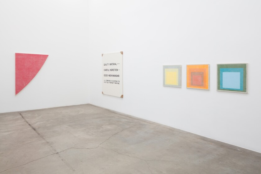 "Tammi Campbell's show ""Boring Art"" at the Los Angeles gallery Anat Ebgi."