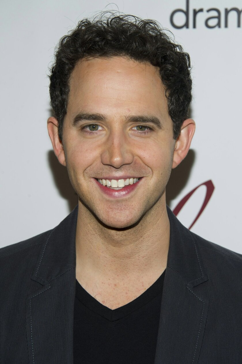 """FILE - In a May 18, 2012 file photo, Santino Fontana attends the 78th Annual Drama League Awards in New York. Fontana, who starred as the Prince in Broadway's """"Rodgers + Hammerstein's Cinderella,"""" now steps into the role of playwright and director Moss Hart for Lincoln Center Theater's """"Act One,"""" o"""
