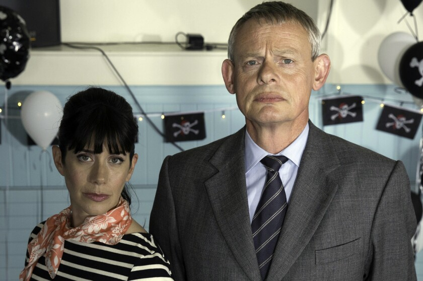 """Carol Catz and Martin Clunes are the stars of """"Doc Martin,"""" a British comedy about a stiff-necked doctor in a small town, whose seventh season is currently streaming on Acorn TV."""