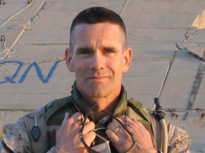 Iraq and Afghanistan vets will be honored at this year's San Diego Veterans Day parade. This is Richard Coleman, Marine Corps colonel, in Iraq 2004. COURTESY PHOTO