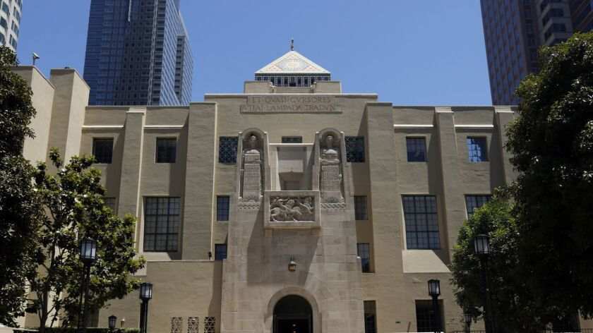 The Los Angeles Public Library in downtown Los Angeles, where most of the ALOUD reading series conversations take place.