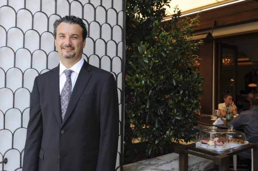 Marino Monferrato is general manager of Cecconi's in West Hollywood