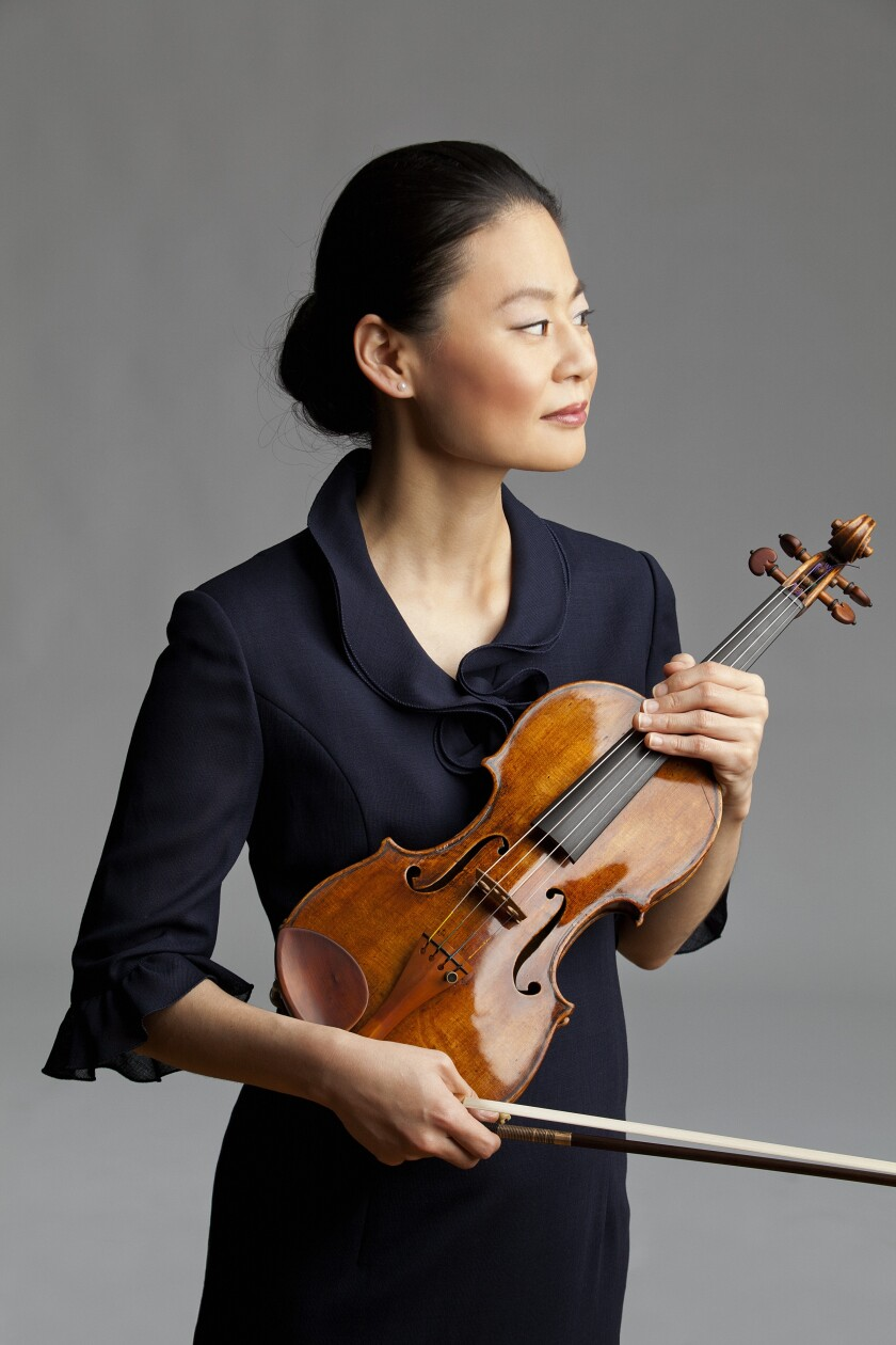Violinist Midori joined pianist Jean-Yves Thibaudet in a concert Friday at the newly opened Baker-Baum Concert Hall in La Jolla.