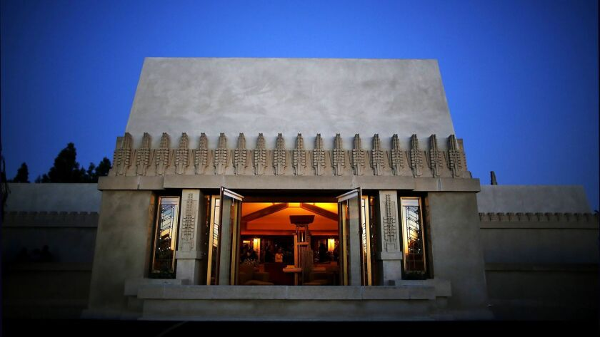 Hollyhock House, one of American architect Frank Lloyd Wright's masterpieces and his first project in Los Angeles, with seven other Wright buildings, was named a UNESCO World Heritage Site on Sunday.