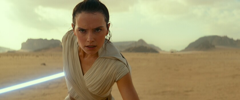 """Daisy Ridley in """"Star Wars: The Rise of Skywalker"""""""