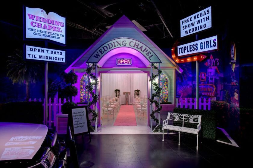 """You can get married in a replica of """"The Hangover"""" wedding chapel with a minister dressed as Elvis."""