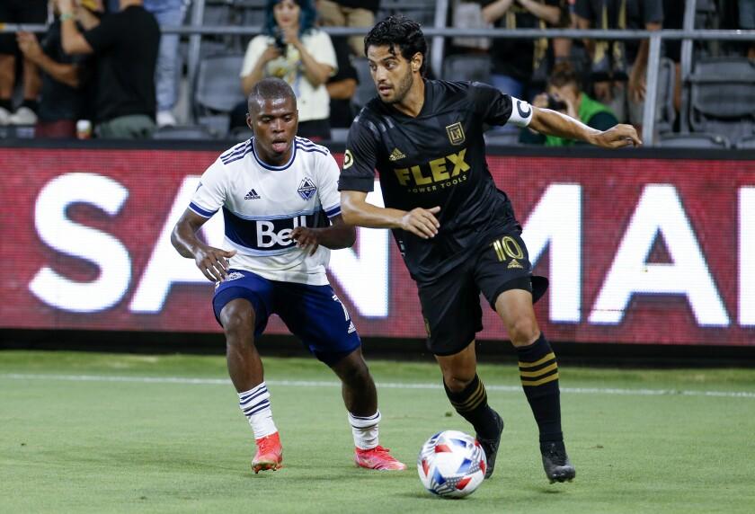 Los Angeles FC forward Carlos Vela (10)