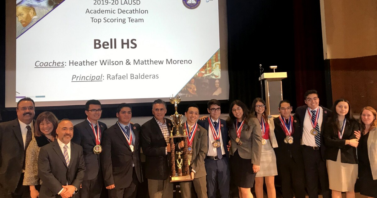Bell High wins LAUSD's 2020 Academic Decathlon, a first for the school