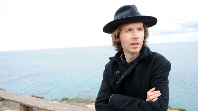 FILE - In this Dec. 14, 2012 file photo, musician Beck poses for a portrait at his home, in Malibu,