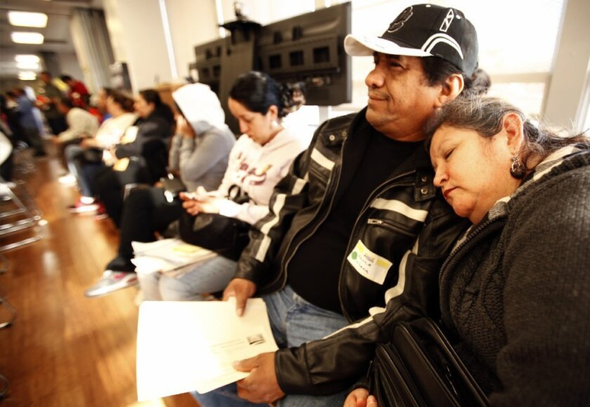 Californians line up Monday to get Obamacare