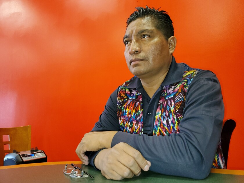 Aldo Waykan, originally from Guatemala, is a translator and runs a business in the Westlake area of Los Angeles.