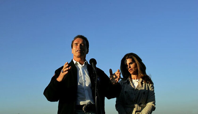 Arnold Schwarzenegger and Maria Shriver, pictured in 2006, confirmed Monday that they have separated after 25 years of marriage.