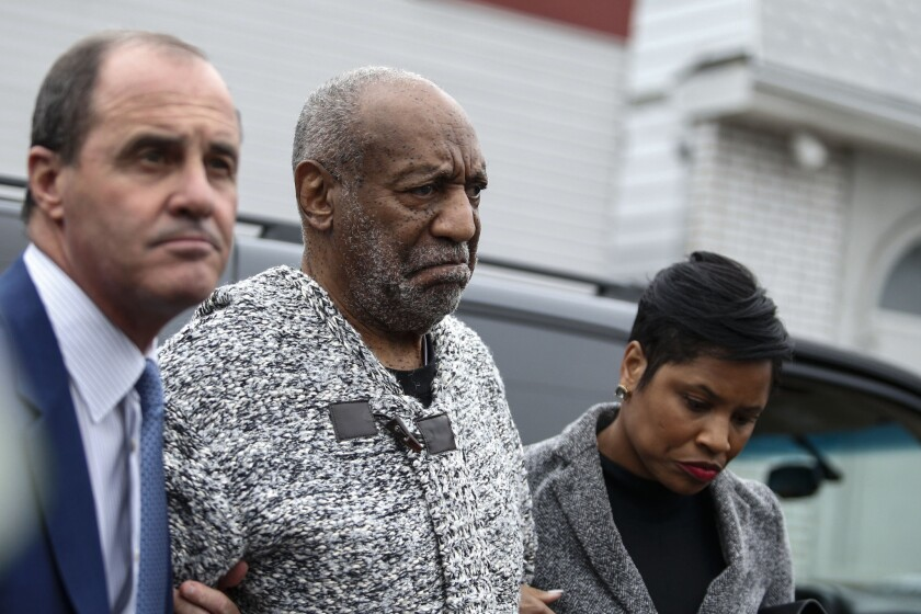 Bill Cosby arrives at court on Wednesday in Elkins Park, Pa., to face charges of aggravated indecent assault.