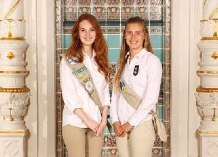TextEditor Rancho Santa Fe residents Nicolette Bahr (left) and Brittany Black earned the Girl Scout Gold Award.